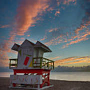 7944- Miami Beach Sunrise Art Print