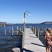 Indian River Lagoon At Eau Gallie In Florida Usa Art Print