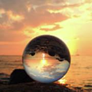 8-26-16--5927 Don't Drop The Crystal Ball, Crystal Ball Photography Art Print