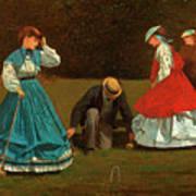 Croquet Scene Art Print