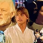 Galaxies Star Wars Poster Art Print