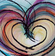 Hearts By Barb Art Print