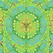 Indian Fabric Pattern Art Print