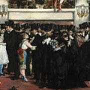Masked Ball At The Opera Art Print