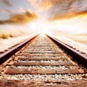 Railway Tracks  Art Print