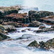 Rocks And Waves At Point Cartwright  Art Print