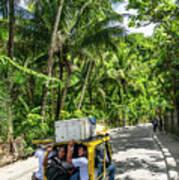 Tuk Tuk Trike Taxi Local Transport In Boracay Island Philippines Art Print