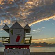 8003- Miami Beach Sunrise Art Print