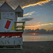 8041- Miami Beach Sunrise Art Print