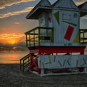 8097- Miami Beach Sunrise Art Print