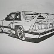 80s Mustang - Rear View Art Print