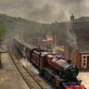 8624 At Froghall Station Art Print