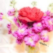 #8742 Soft Flowers Art Print
