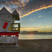 8990- Miami Beach Sunrise Art Print