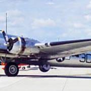 B-17 Bomber Parking Art Print