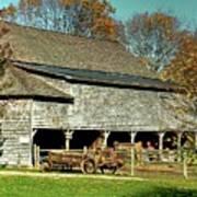 Hallockville Farm Barn Li.ny Art Print
