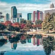 Charlotte City North Carolina Cityscape During Autumn Season Art Print