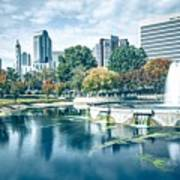 Charlotte North Carolina Cityscape During Autumn Season Art Print