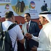Dubai Travelers Festival Art Print