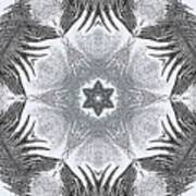 Fern Frost Mandala Art Print