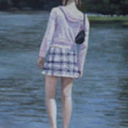 Girl In The Park Art Print