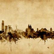 Liverpool England Skyline Art Print