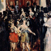 Masked Ball At The Opera Art Print