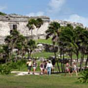 Mayan Temples At Tulum, Mexico Art Print