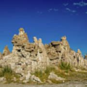 Natural Rock Formation At Mono Lake, Eastern Sierra, California, Art Print