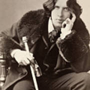 Oscar Wilde (1854-1900) Art Print by Granger