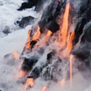 Pahoehoe Lava Flow Art Print