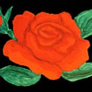 Red Rose, Painting Art Print
