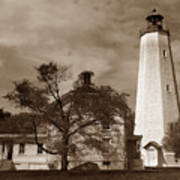 Sandy Hook Lighthouse Nj  Art Print