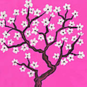 Spring Tree In Blossom, Painting Art Print