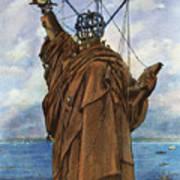 Statue Of Liberty 1886 Art Print