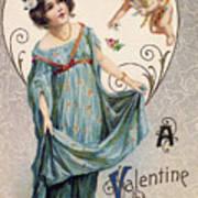 Valentines Day Card Art Print
