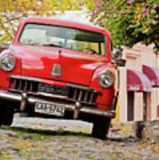 Vintage Car In Colonia Del Sacramento, Uruguay Art Print