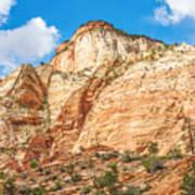 Zion Canyon National Park Utah Art Print