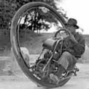 90 M P H Monocycle - 1933 Art Print