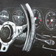 911 Porsche Dash Art Print