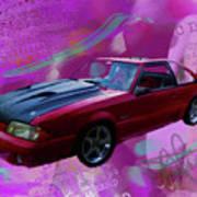 93 Mustang V2 Art Print