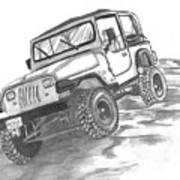 94 Jeep Wrangler Art Print
