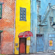 98  French Quarter Back Alley Art Print