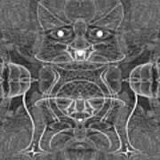 991 Feline  Creature Art Print