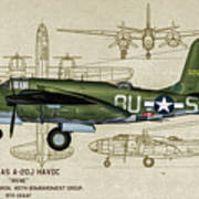 A-20 Havoc - Irene Art Print