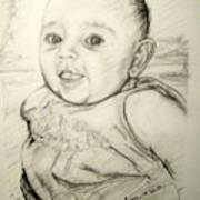 A Baby Smile Art Print