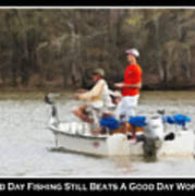 A Bad Day Fishing . . . Art Print