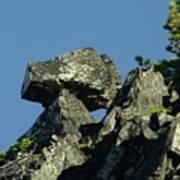 A Balancing Rock  Art Print