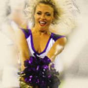A Baltimore Ravens Cheerleader  Art Print