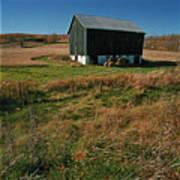 A Barn In Mid Autumn  Art Print